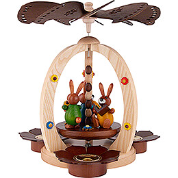 1 - Tier Easter Pyramid with three Bunnies  -  29cm / 11.4 inch