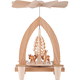 1 - Tier Pyramid  -  Deer  -  Natural  -  26cm / 10.2 inch