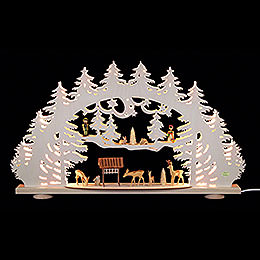 3D Candle Arch  -  'Clearing'  -  66x40x8,5cm / 26x16x3.3 inch
