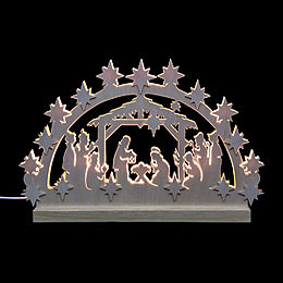 3D Double Arch  -  Nativity  -  42x30x4,5cm / 16x12x2 inch