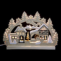 3D Double Arch  -  Water Mill  -  42x30x4,5cm / 16x12x2 inch