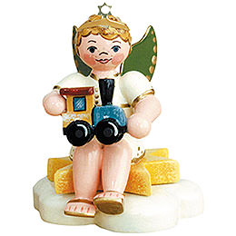 Angel Boy with Train  -  6,5cm / 2,5 inch