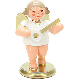 Angel White/Gold with Ukulele  -  6cm / 3 inch