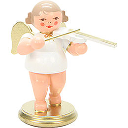 Angel White/Gold with Violin  -  6,0cm / 2 inch