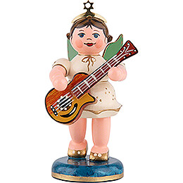 Angel with Acoustic Guitar  -  6,5cm / 2,5 inch