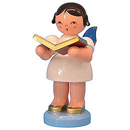 Angel with Book  -  Blue Wings  -  Standing  -  9,5cm / 3,7 inch