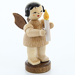 Angel with Candle  -  Natural Colors  -  Standing  -  6cm / 2.4 inch