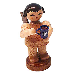 Angel with Cup of Mulled Wine  -  Natural Colors  -  Standing  -  6cm / 2.4 inch