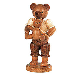 Bear Father with Child  -  10cm / 4 inch