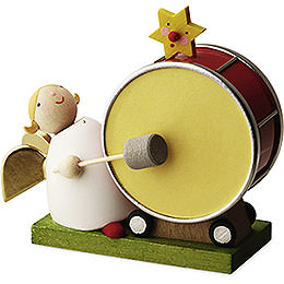 Big Band Guardian Angel with Large Drum  -  3,5cm / 1.3 inch
