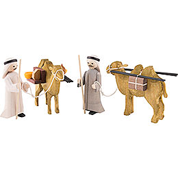Camel Herders, Set of Four, Stained  -  7cm / 2.8 inch