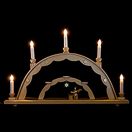 Candle Arch  -  Angel at the Zither and Electric Lights  -  55x32cm / 21.7x12.6 inch