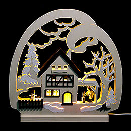 Candle Arch  -  Cabin in the Forest  -  30x28.5x4.5cm / 11.81x11.02x1.57 inch