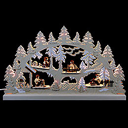 Candle Arch  -  Forest Life  -  62x37x5,5cm / 24x14x2 inch