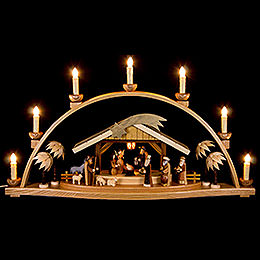 Candle Arch  -  Nativity Natural, Electric  -  66x36cm / 26x14 inch
