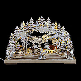 Candle Arch  -  Winter Fun with White Frost  -  43x30cm / 17x11.8 inch
