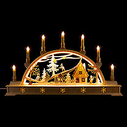 Candle Arch Winter Sports with Base  -  63x35cm / 24.8x13.8 inch