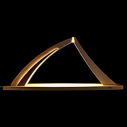 Candle Arch  -  modern wood  -  NEW LINE Beech  -  without Figurines  -  57x26cm / 22.4x10.2 inch