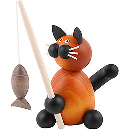 Cat Bommel with Fish  -  8cm / 3.1 inch