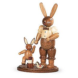 Easter Bunny Farther with Child  -  11cm / 4 inch
