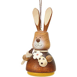 Easter Ornament  -  Teeter Bunny with Paintbrush Natural  -  9,8cm / 3.9 inch