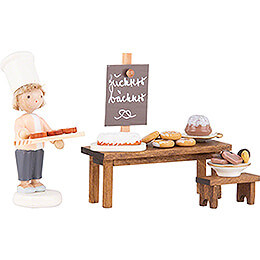 Flax Haired Children Candy Bakery  -  5cm / 2 inch