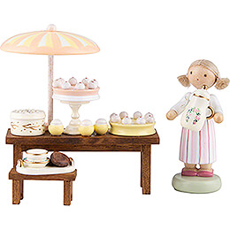 Flax Haired Children Pastry Shop  -  5cm / 2 inch