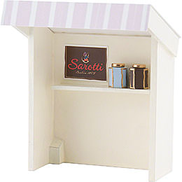 Flax Haired Children Stall for Chocolate Shopgirl  -  8cm / 3.1 inch