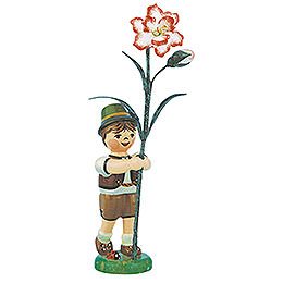 Flower Child Boy with Carnation  -  11cm / 4,3 inch