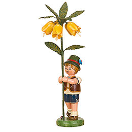 Flower Child Boy with Imperial Crown  -  17cm / 7 inch