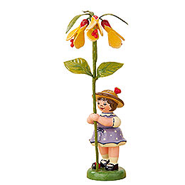 Flower Girl with Abutilon  -  11cm / 4,3 inch