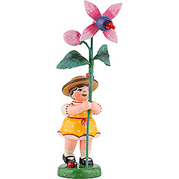 Flower Girl with Fuchsia  -  11cm / 4.3 inch