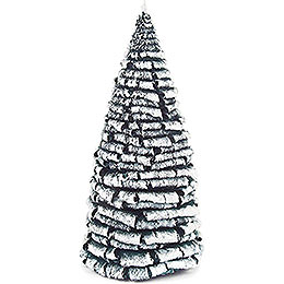 Frosted Tree  -  Green - White  -  18cm / 7.1 inch