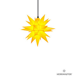 Herrnhuter Moravian Star A4 Yellow Plastic  -  40cm/16 inch