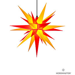 Herrnhuter Moravian Star A7 Yellow/Red Plastic  -  68cm/27 inch