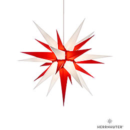 Herrnhuter Moravian Star I7 White/Red Paper  -  70cm / 27.6 inch