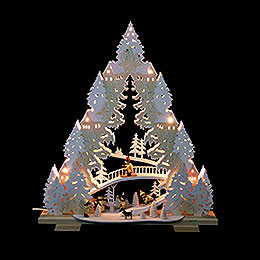 Light Triangle  -  'Sledding on Goat Mountain'  -  44x50x11cm / 17x20x4,3 inch