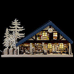 Lighted House Carpentry  -  70x38x8cm / 28x15x3 inch