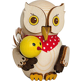 Mini Owl with Chick  -  7cm / 2.8 inch
