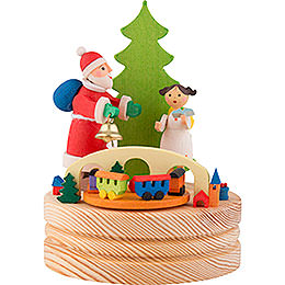 Music Box Santa Claus with Christ Child  -  13cm / 5.1 inch