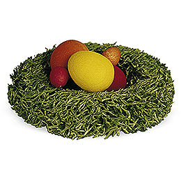 Nest with Easter Eggs  -  1cm / 0.4 inch