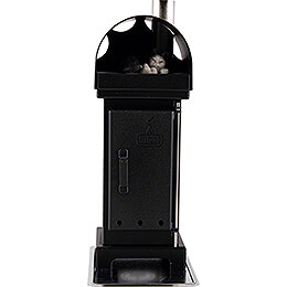 Nordic Fire Place Incense Smoker Black  -  18cm / 7 inch
