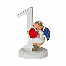 "Number ""1"" with Angel  -  7cm / 2.8 inch"