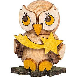 Owl Child with Star  -  4cm / 1.6 inch