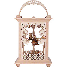 Pyramid Lantern  -  Forest and Owls  -  38cm / 15 inch