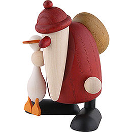 Santa Claus with Goose Auguste  -  9cm / 3.5 inch