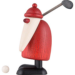 Santa Claus with raised Golf Club  -  10cm / 3.9 inch