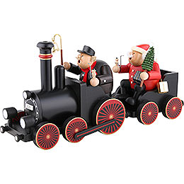Smoker  -  Engine Driver with Train  -  48,5x21,5x13cm/19.1x8.5x5.1 inch