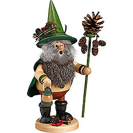 Smoker  -  Forest Gnome Pine Cone Picker, Green  -  25cm /10 inch