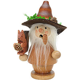 Smoker  -  Forest Man with Squirrel Natural Colors  -  14,0cm / 6 inch